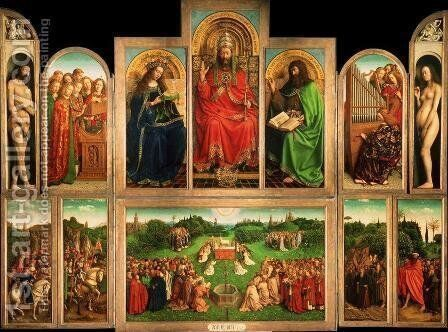Adoration of the Lamb by Jan Van Eyck - Reproduction Oil Painting