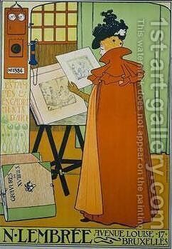 Poster for the Lembree Gallery by Theo Van Rysselberghe - Reproduction Oil Painting