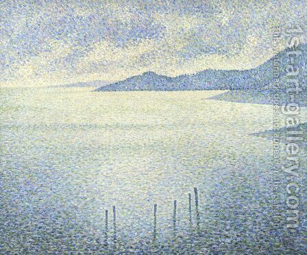 A Coastal Scene by Theo Van Rysselberghe - Reproduction Oil Painting