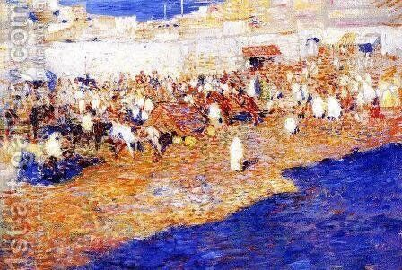 Moroccan Market 3 by Theo Van Rysselberghe - Reproduction Oil Painting