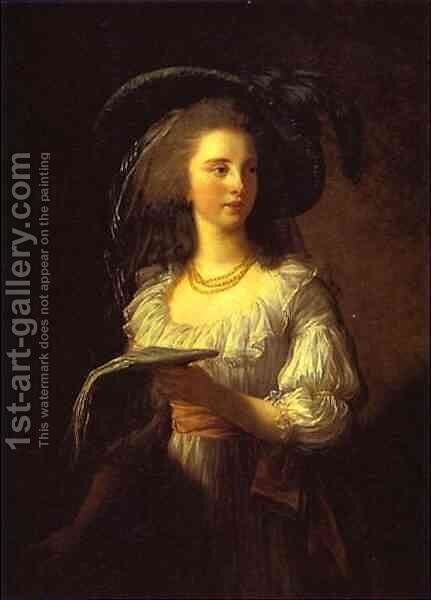 The Duchess de Polignac by Elisabeth Vigee-Lebrun - Reproduction Oil Painting
