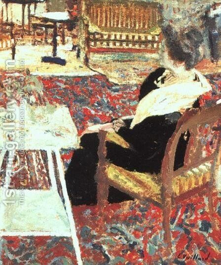Madame Arthur Fontaine 2 by Edouard  (Jean-Edouard) Vuillard - Reproduction Oil Painting