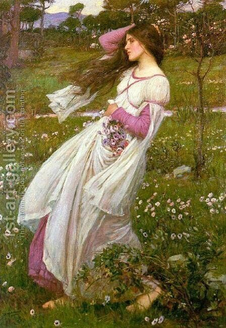 Windswept by Waterhouse - Reproduction Oil Painting