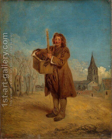 The Savoyard with a Marmot by Jean-Antoine Watteau - Reproduction Oil Painting