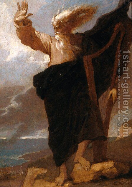 The Bard by Benjamin West - Reproduction Oil Painting