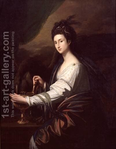 Mrs Worrell as Hebe by Benjamin West - Reproduction Oil Painting