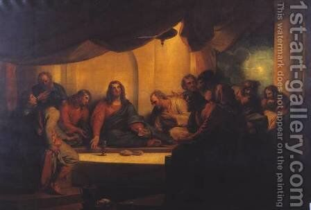 The Last Supper by Benjamin West - Reproduction Oil Painting