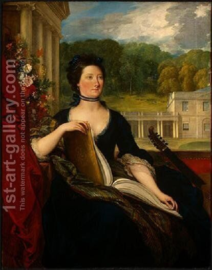 Maria Hamilton Beckford by Benjamin West - Reproduction Oil Painting