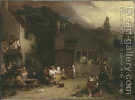 The Village Holiday by Sir David Wilkie - Reproduction Oil Painting