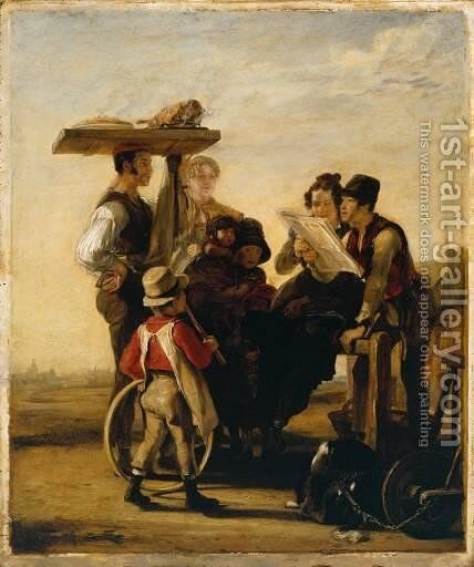 Newsmongers by Sir David Wilkie - Reproduction Oil Painting