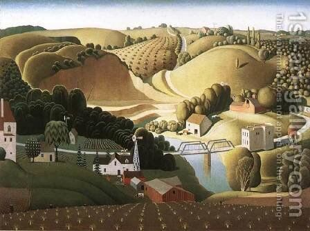 Stone City by Grant Wood - Reproduction Oil Painting