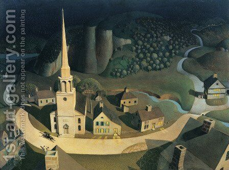 The Midnight Ride of Paul Revere by Grant Wood - Reproduction Oil Painting