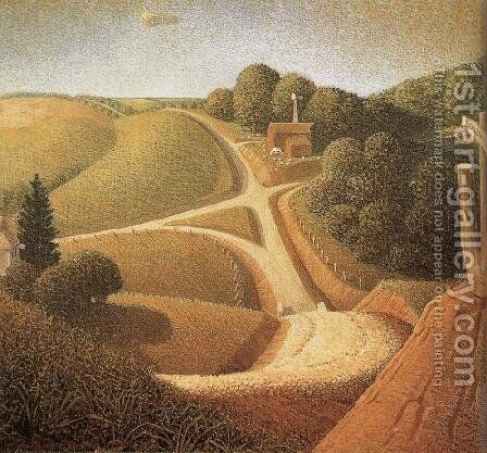 New Road by Grant Wood - Reproduction Oil Painting