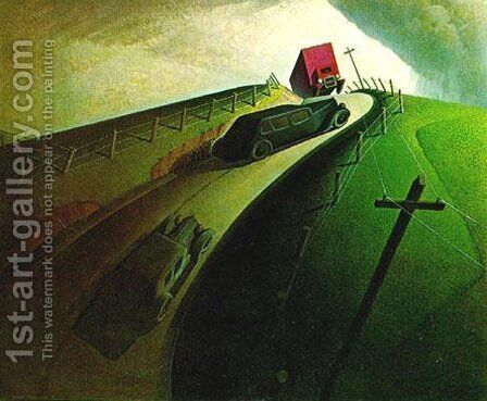 Death on Ridge Road by Grant Wood - Reproduction Oil Painting