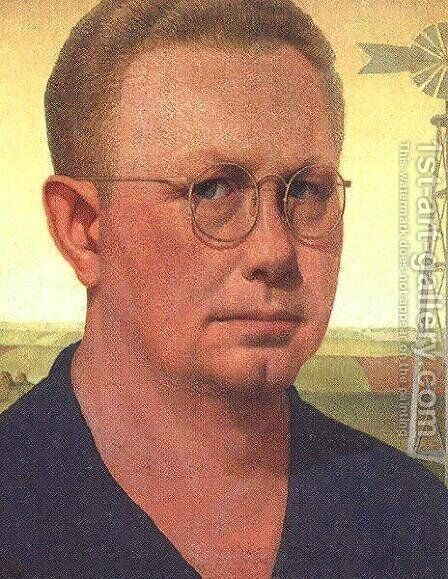 Self-Portrait by Grant Wood - Reproduction Oil Painting