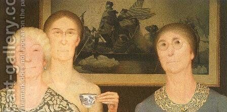 Daughters of the Revolution by Grant Wood - Reproduction Oil Painting