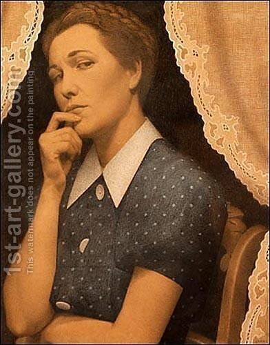 Perfectionist by Grant Wood - Reproduction Oil Painting