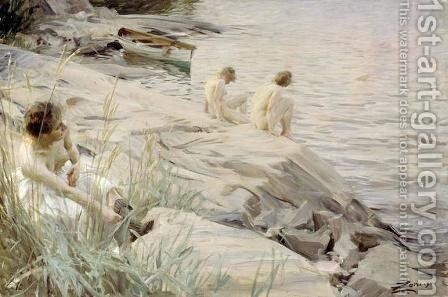 Bathing Girls by Anders Zorn - Reproduction Oil Painting
