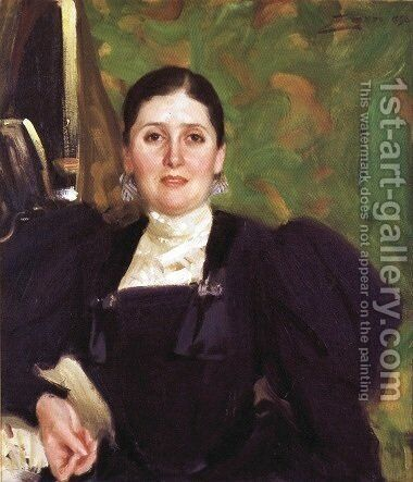 Martha Liebermann by Anders Zorn - Reproduction Oil Painting
