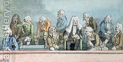 The Trial of Warren Hastings 3 by James Nixon - Reproduction Oil Painting