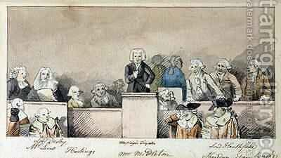 The Trial of Warren Hastings 1732-1818 Westminster Hall 1788 by James Nixon - Reproduction Oil Painting