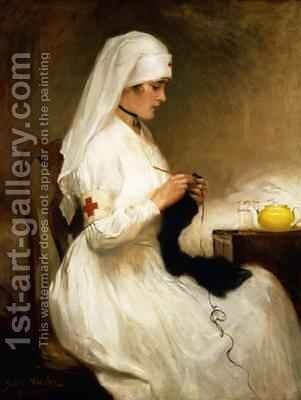 Portrait of a Nurse from the Red Cross by Gabriel Emile Niscolet - Reproduction Oil Painting