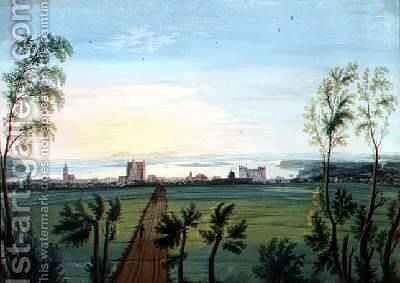 A View of Schwerin Morning by C.H. Nipperdey - Reproduction Oil Painting