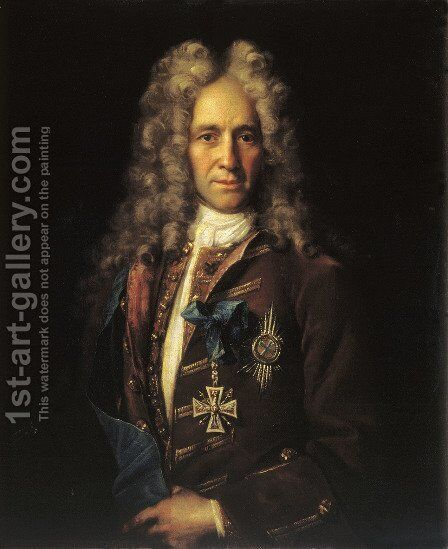 Portrait of State Chancellor Count G Golovkin 1720 by Ivan Nikitich Nikitin - Reproduction Oil Painting