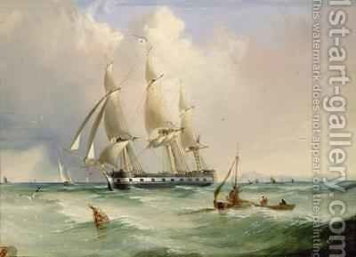 Frigate under Sail by Edward H. Niemann - Reproduction Oil Painting