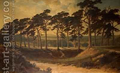 Harrow from the First Hampstead Heath 1875 by Edmund John Niemann, Snr. - Reproduction Oil Painting