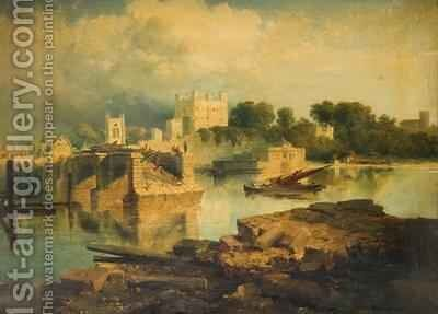 Landscape near Rochester 1860 by Edmund John Niemann, Snr. - Reproduction Oil Painting