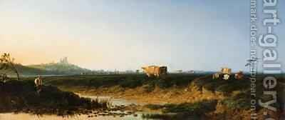 Landscape with a View of Lincoln 1861 by Edmund John Niemann, Snr. - Reproduction Oil Painting