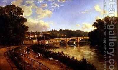 Richmond Upon Thames by Edmund John Niemann, Snr. - Reproduction Oil Painting