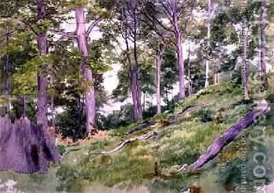 Clearing in the Woods near Ludlow by Alfred Nichols - Reproduction Oil Painting