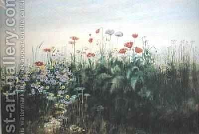 Irish Wildflowers by Andrew Nicholl - Reproduction Oil Painting