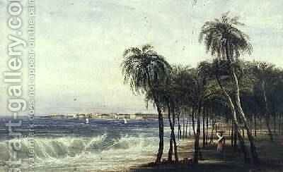 A View of Colombo Ceylon by Andrew Nicholl - Reproduction Oil Painting