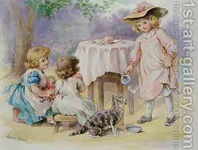 The Tea Party 1876 by Agnes Nicholl - Reproduction Oil Painting