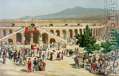 A Market in Pompeii by (after) Niccolini, Antonio - Reproduction Oil Painting