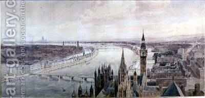 Panorama of London by Henry Newton - Reproduction Oil Painting