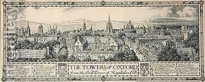 The Towers of Oxford from the Bell Tower of Magdalen 1908 by Edmund Hort New - Reproduction Oil Painting