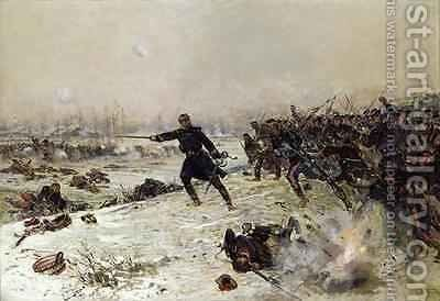 Episode of the War of 1870 Battle of Chenebier 16th January 1871 1882 by Alphonse Marie de Neuville - Reproduction Oil Painting