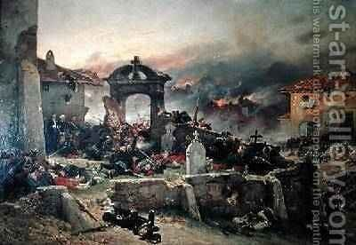 The Cemetery of Saint Privat 18th August 1870 1881 by Alphonse Marie de Neuville - Reproduction Oil Painting