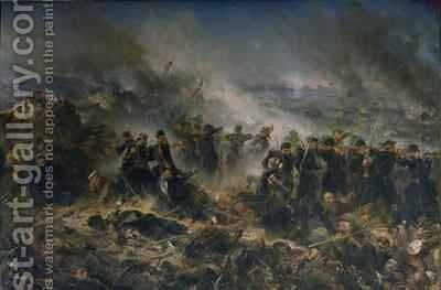 The Gervais Battery at the Siege of Sebastopol 18th June 1855 by Alphonse Marie de Neuville - Reproduction Oil Painting