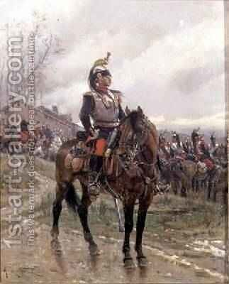 The Hussars by Alphonse Marie de Neuville - Reproduction Oil Painting
