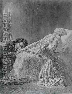 The Death of Jean Valjean by Alphonse Marie de Neuville - Reproduction Oil Painting