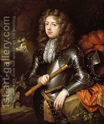 Portrait of a Commander in Armour by Constantin Netscher - Reproduction Oil Painting