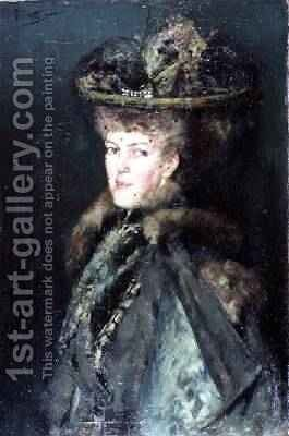 Portrait of a Lady by Count Girolamo Pieri Nerli - Reproduction Oil Painting