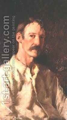 Robert Louis Stevenson 1850-94 1892 by Count Girolamo Pieri Nerli - Reproduction Oil Painting