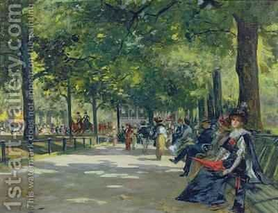 Hyde Park London by Count Girolamo Pieri Nerli - Reproduction Oil Painting