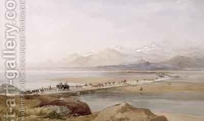Camp of General Sir Hugh Rose Crossing the Chenab Punjab 1867 by J. Needham - Reproduction Oil Painting